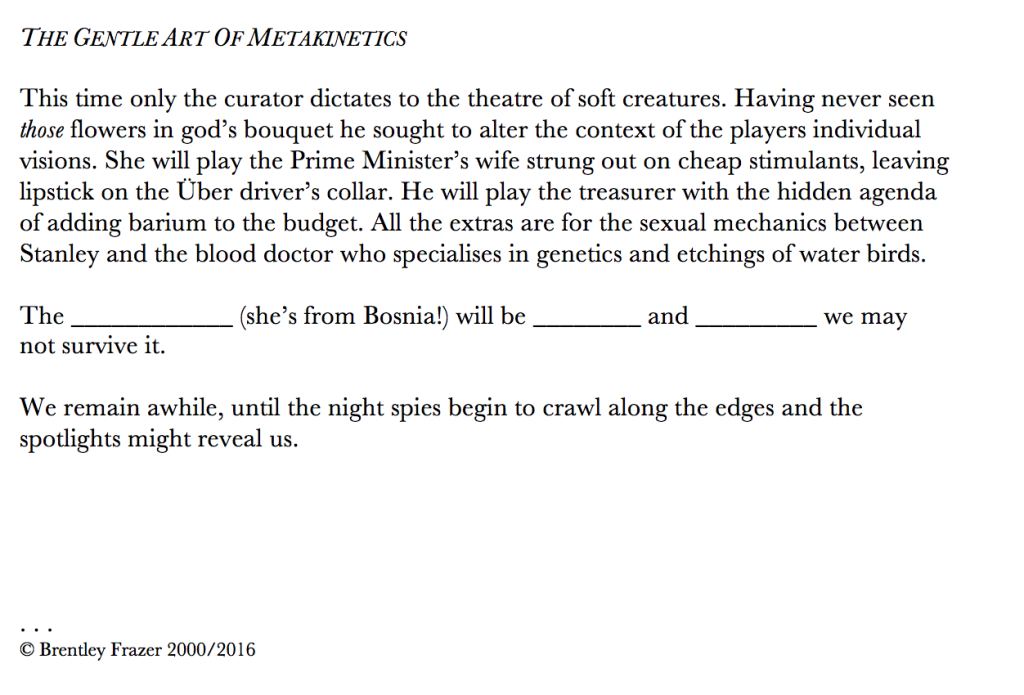 metakinetics
